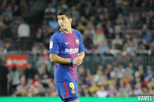 Luis Suárez con la camiseta del Barça   Foto: Ernesto Aradilla, VAVEL