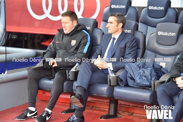 El 'txingurri' Valverde en el trasncurso del FC Barcelona - Celta esta temporada   Foto: Noelia Déniz - VAVEL
