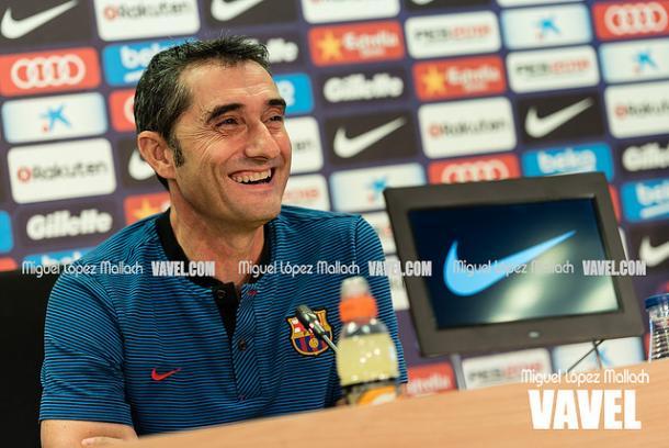 Ernesto Valverde atendió a los medios de comunicación en la previa del partido en Castellón | Foto: Miguel López Mallach - VAVEL
