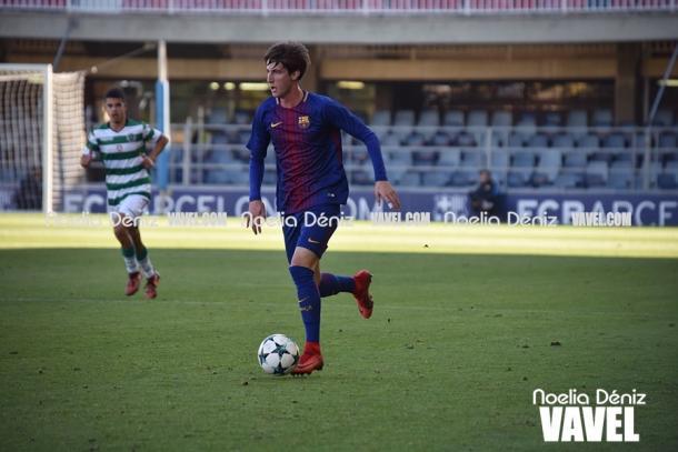 Juan Miranda ante el Sporting de Lisboa en la UEFA Youth League | Foto: Noelia Déniz, VAVEL