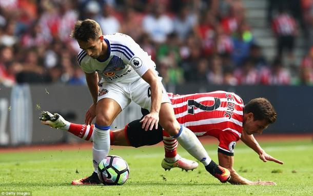 Above: Adnan Januzaj in action during Sunderland's 1-1 draw with Southampton | Photo: Getty Images