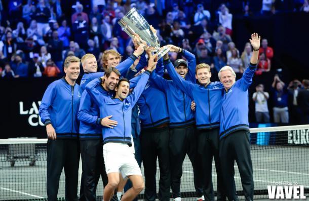 Team Europe celebrates their victory in Chicago on Sunday. Photo: Noel Alberto/VAVEL USA