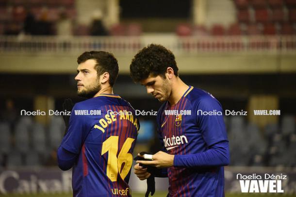 Aleñá y Arnaiz ante el Sporting de Gijón. Foto: Noelia Déniz, VAVEL