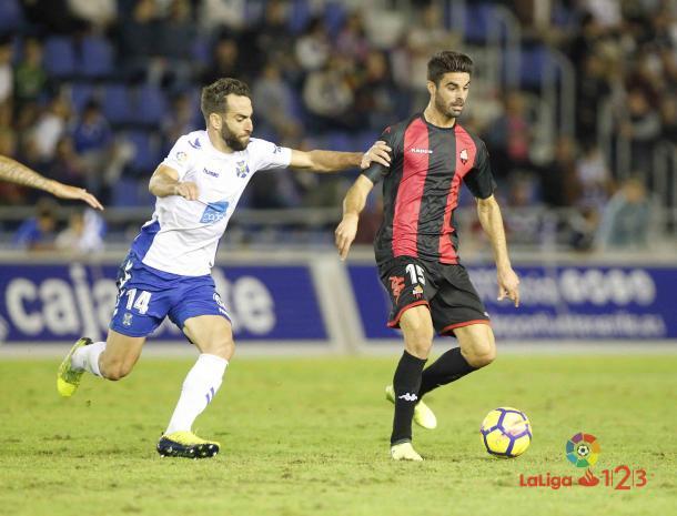 Juan Domínguez en el Tenerife-Reus de 2017/18   Foto: LaLiga 1 2 3