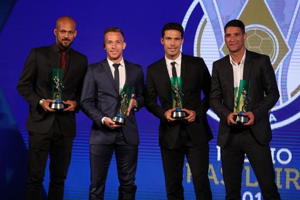 B. Silva, Arthur, Hernanes e T. Neves marcaram presença na seleção do Brasileiro (Foto: Lucas Figueiredo/CBF)