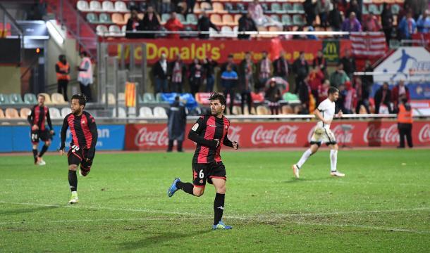 Vítor Silva, en el Reus-Sporting de la primera vuelta, se perderá el duelo por suspensión   Foto: CF Reus
