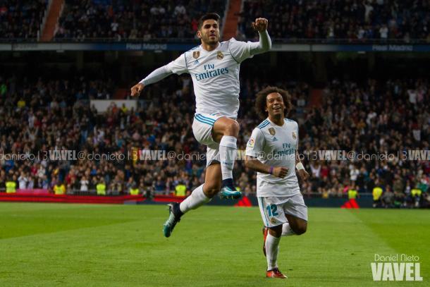 Asensio celebrando un gol / Daniel Nieto (VAVEL)