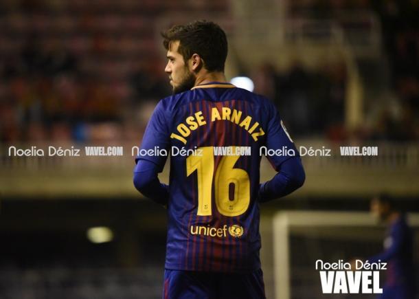 José Arnaiz en pleno partido. Foto: Noelia Déniz, VAVEL.com