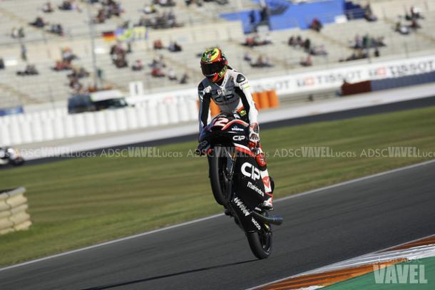 Marco Bezzecchi en el GP de Valencia | Foto: Lucas ADSC (VAVEL)