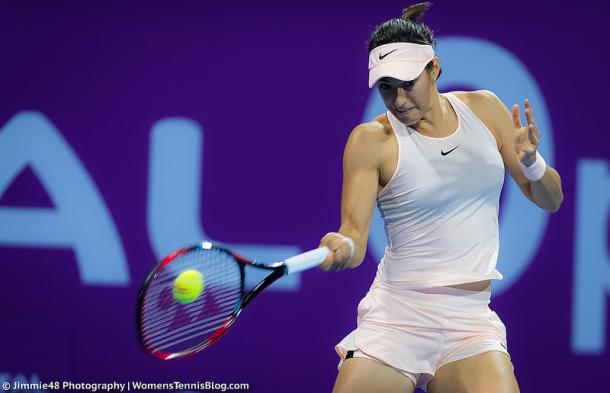Defending champion Garcia is the fourth seed in Wuhan this year. Photo credit: Jimmie48 Tennis Photography.
