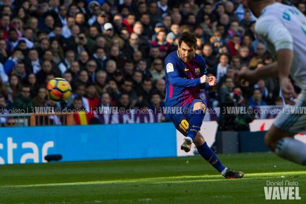 Messi durante el clásico liguero de esta temporada   Foto: Daniel Nieto (VAVEL)