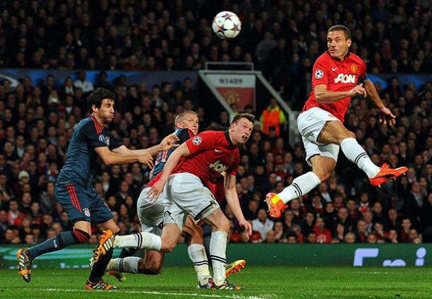 Vidic opened the scoring against Guardiola's bayern team in 2014 | Photo: Getty Images
