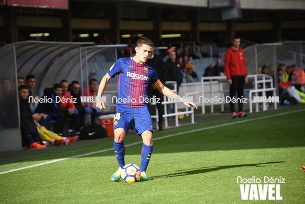 Sergi Palencia después de reaparecer tras su lesión en el tobillo. Foto: Noelia Déniz, VAVEL.com