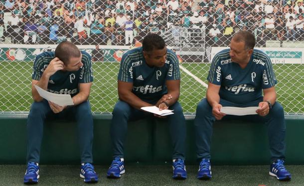 Roger Machado conheceu seu futuro elenco e terá seu primeiro jogo dia 18 contra o Santo André (Foto: Ag Palmeiras/Divulgação)