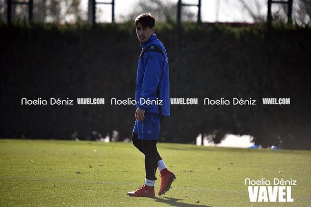 Bojan en un entrenamiento del Alavés | Foto: Noelia Deniz (VAVEL España)