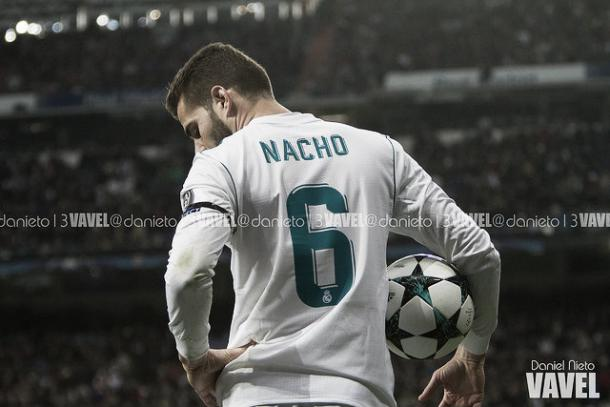 Nacho, que será titular frente al Sevilla, en el encuentro frente al BVB | Foto: Daniel Nieto VAVEL