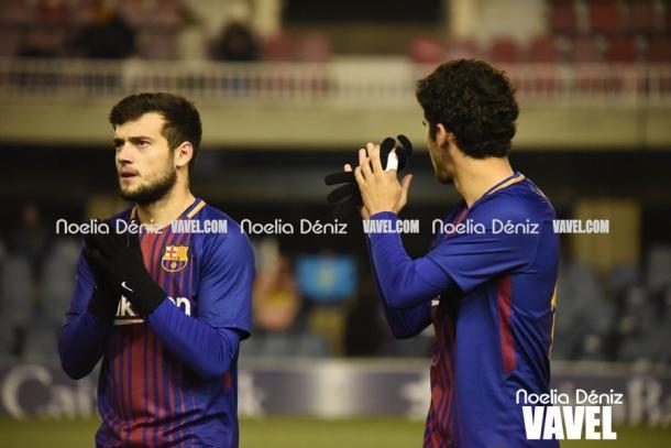 Aleñá y Arnaiz ante el Sporting. Foto: Noelia Déniz, VAVEL