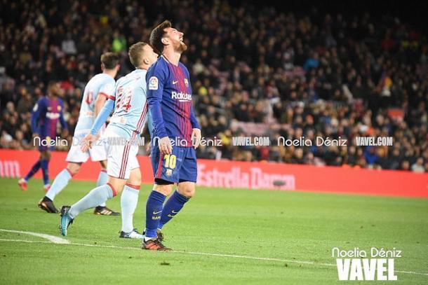 Messi se lamenta tras fallar una ocasión de gol // Noelia Déniz
