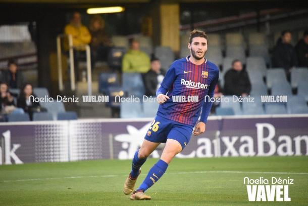 Abel Ruiz en el Miniestadi con el FC Barcelona B | Foto: Noelia Déniz, VAVEL