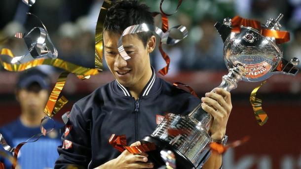 Kei Nishikori will look to claim a third title in his home nation this week. Photo: Kiyoshi Ota/EPA