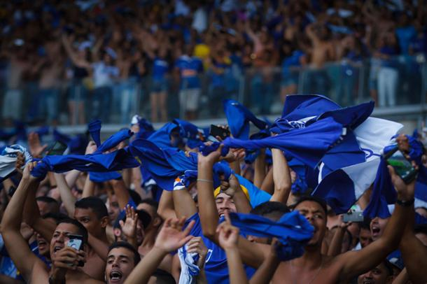 Torcida celeste mais uma vez compareceu em bom número no Mineirão (Foto: Vinnicius Silva/Cruzeiro)