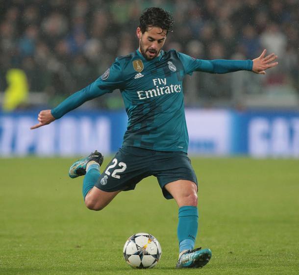 Isco durante el partido en Turín I Foto: Real Madrid