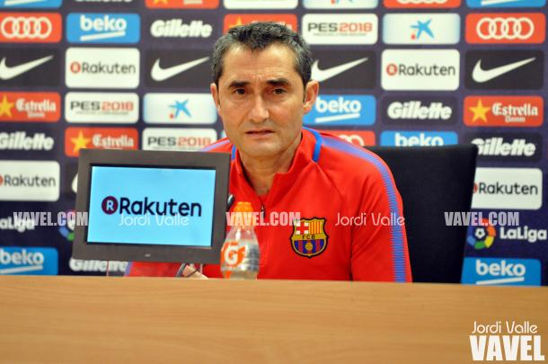 Ernesto Valverde en rueda de prensa. Foto: Noelia Déniz, VAVEL.com