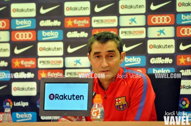 Valverde atendió los medios el mediodía del sábado para valorar el partido ante el Levante