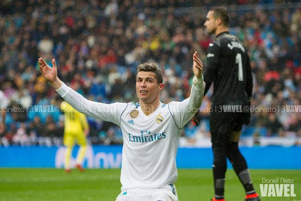 Ronaldo muestra su impotencia al no encotrar el gol | Foto: Daniel Nieto (VAVEL)