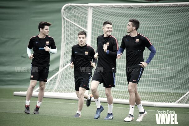 Entrenamiento del filial azulgrana en la Ciutat Esportiva Joan Gamper | Foto de Noelia Déniz, VAVEL