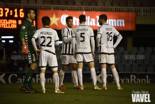 Jugadores del Castellón. FOTO: Noelia Déniz