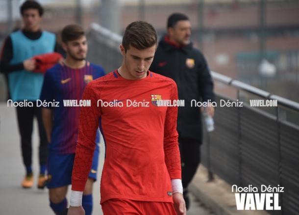 Iñaki Peña con el Juvenil A del FC Barcelona | Foto: Noelia Déniz, VAVEL