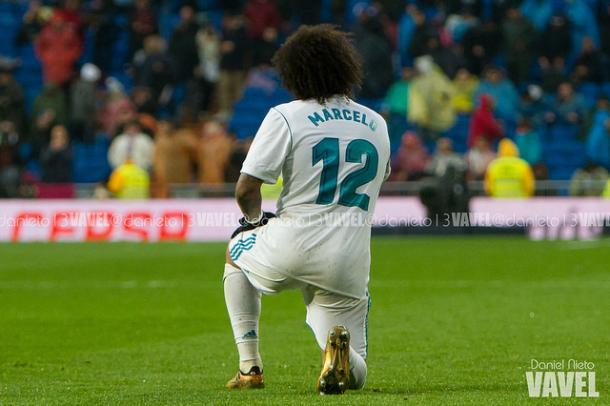 Marcelo durante el partido frente al Villarreal | Foto: Daniel Nieto (VAVEL)