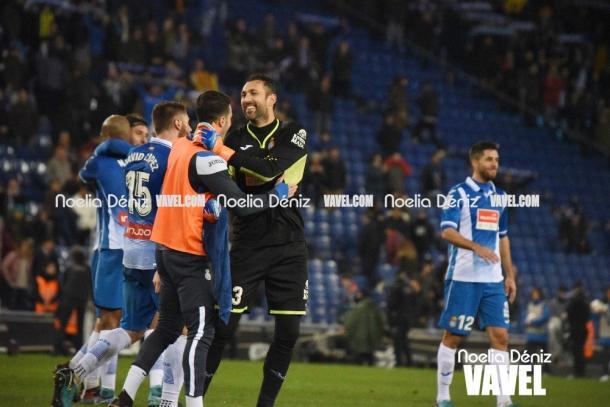 Diego López fue uno de los héroes del partido. Foto: Noelia Déniz.