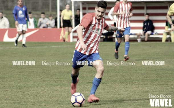 Dani Sandoval, máximo artillero del Sporting de Gijón en la División de Honor Grupo 1 | Foto del Real Sporting de Gijón