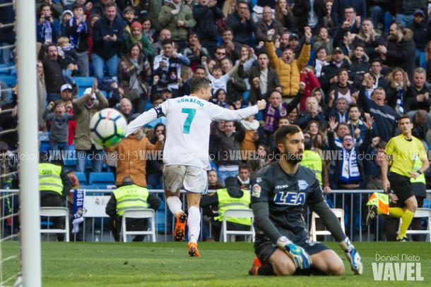Cristiano Ronaldo abriu caminho para a goleada merengue