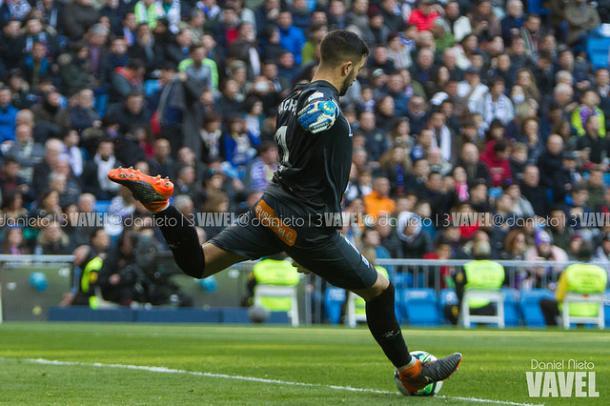 Fernando Pacheco en un partido contra su ex equipo, el Real Madrid I Foto: Daniel Nieto (VAVEL)