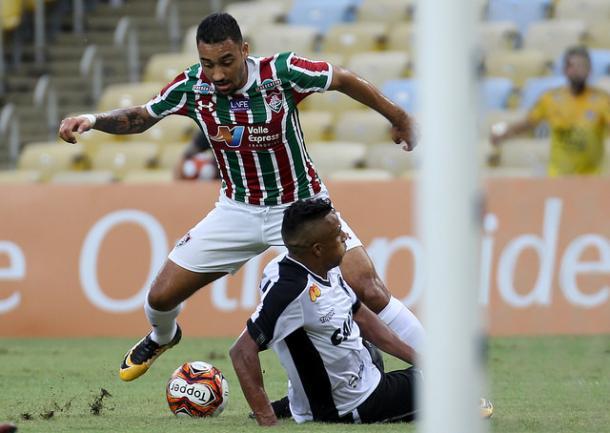 Robinho criou boas oportunidades pela esquerda (Foto: Divulgação/Fluminense FC