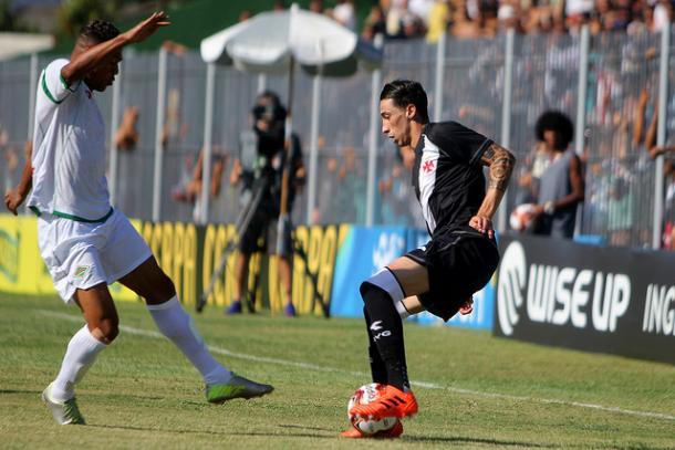 Rildo estreou nesta quarta com a camisa do Vasco, mas não fez bom primeiro tempo | Foto: Paulo Fernandes/Vasco