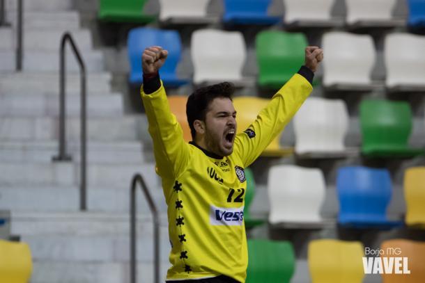 Javier de la Cruz, uno de los jugadores más destacados del partido. | Foto: Borja Martínez García (VAVEL España)