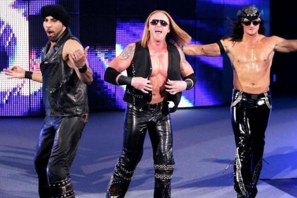 Jinder Mahal, Heath Slater and Drew Mcintyre formed 3MB (image: cagesideseats)