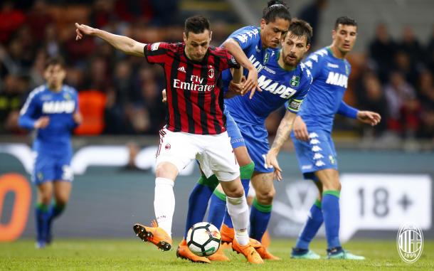 El Milan no pasó del empate ante el Sassuolo | Foto: AC Milan
