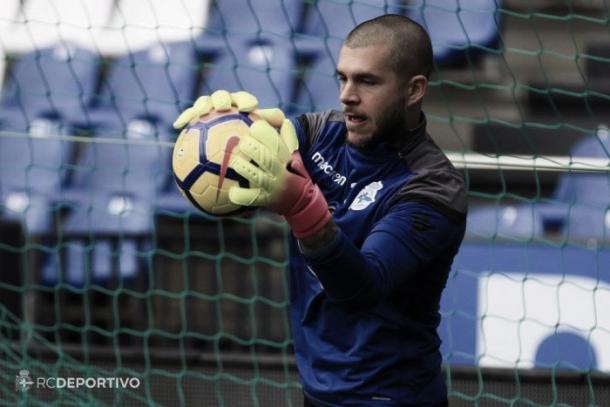 Rubén Martínez en un entrenamiento con el Dépor | Foto: RC Deportivo