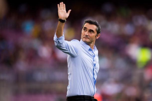 Ernesto Valverde. Fonte: Alex Caparros/Getty Images