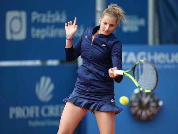 Kristyna Pliskova in action at the same tournament last year | Photo: CTK Prague