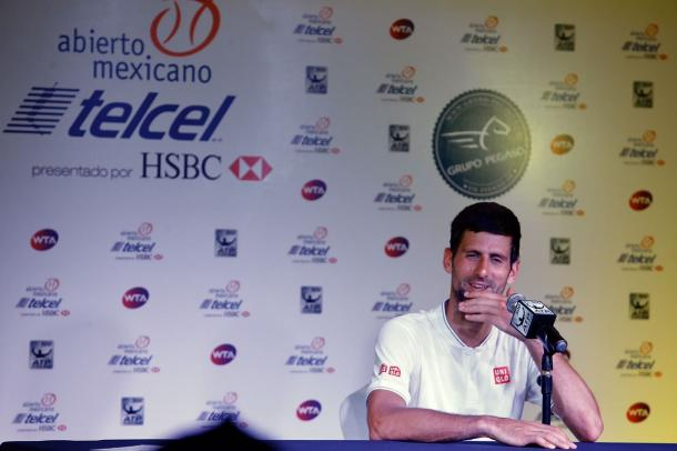 Novak Djokovic will play his first round match against Martin Klizan (Photo: Mextenis / Jorge Reyes)