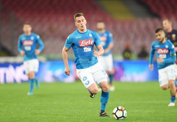 Jogador vem sendo relacionado nas últimas partidas do Napoli (Foto: Francesco Pecoraro/GettyImages)