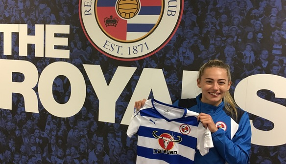 Charlie Estcourt is now a senior professional player at Reading   Source: reading.fawsl.com