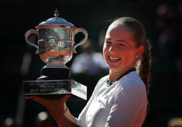 Ostapenko, 2017 French Open women's singles winner. Photo: Ian MacNicol