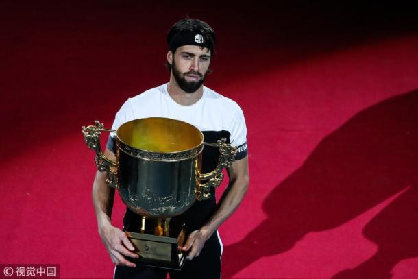 Basilashvili has made a charge up the rankings after two big titles in 2018. Photo: China Open